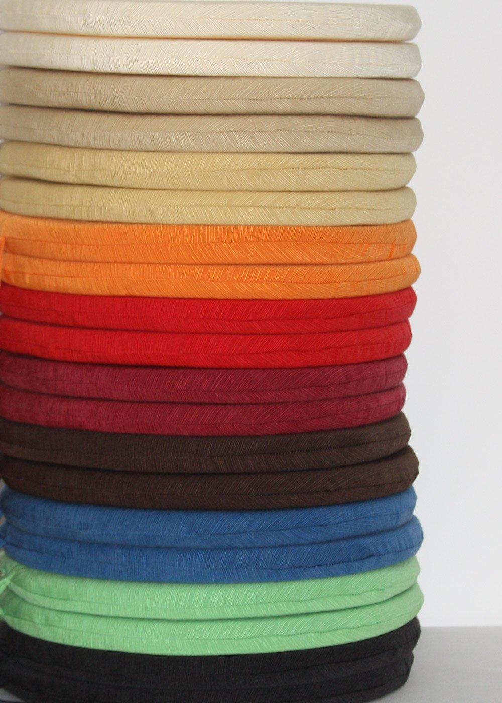 4 cojines de silla redondos, 50% algodón - x 50% poliéster. , naranja, 40 x - 40 115c46