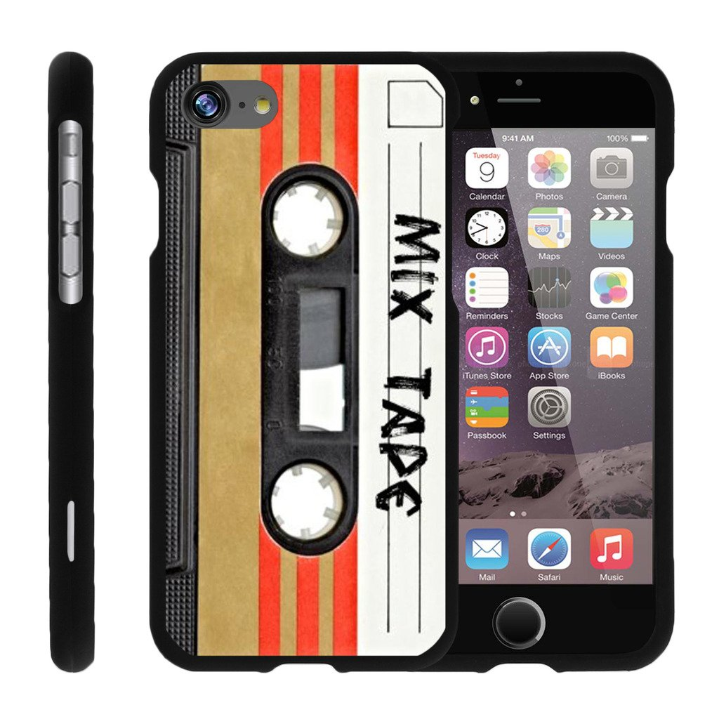 Case for iPhone 7   iPhone 7s Slim Case [Snap Shell] iPhone 7 Hard Shell Case with Unique Designs by MINITURTLE - Mix Tape Retro