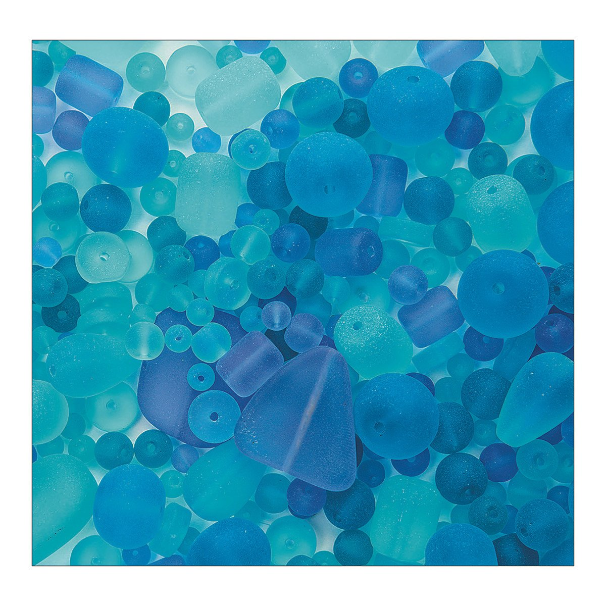 S&S Worldwide Sea Glass Bead Assortment, Ocean Wave 4336814830