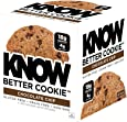 KNOW Foods Gluten Free, Low Carb, Protein Cookies, Chocolate Chip, 4g Net Carbs - 4 Count