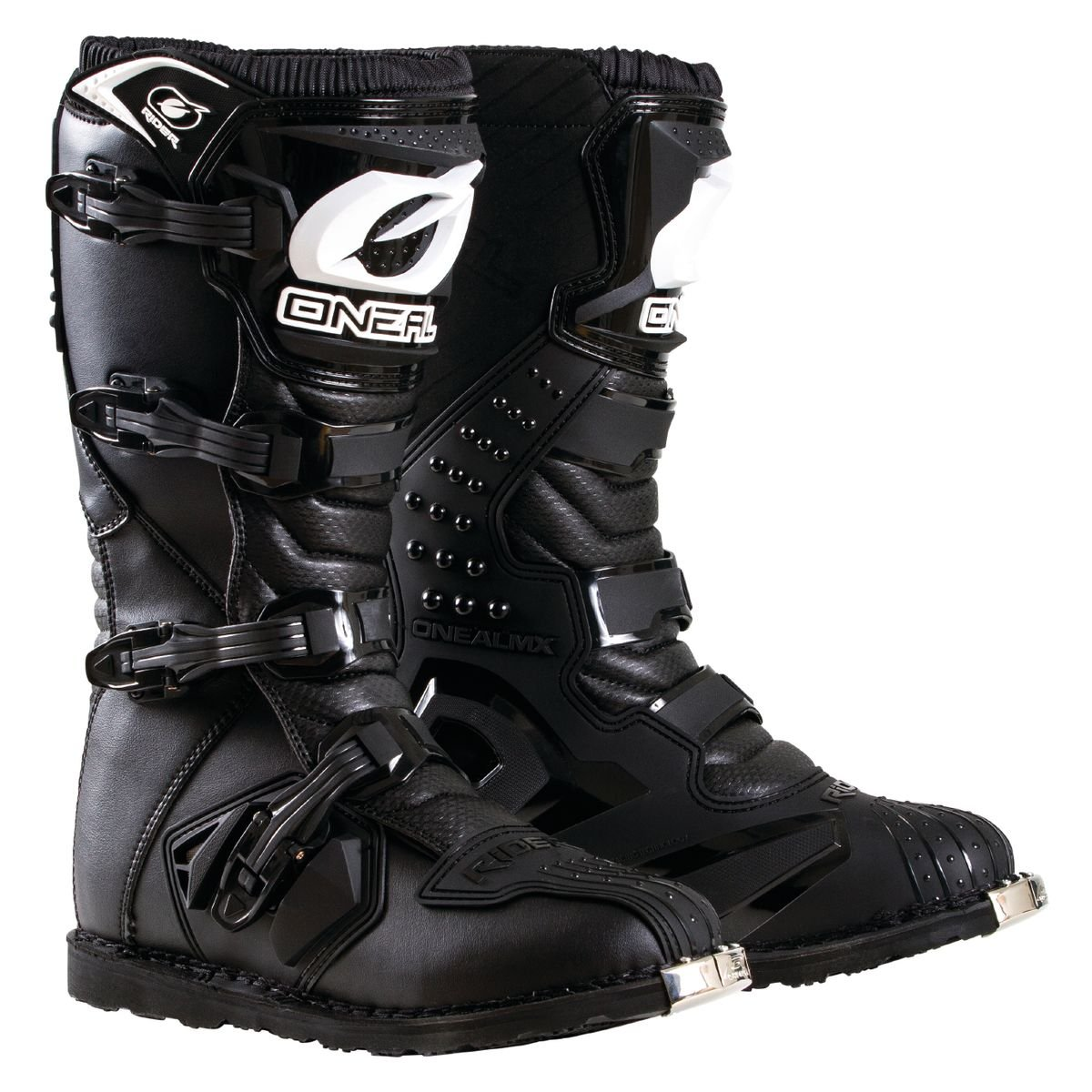 O'Neal Men's New Logo Rider Boot (Black, Size 7)