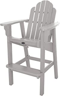 product image for Nags Head Hammocks Classic Bar Dining Chair, Gray