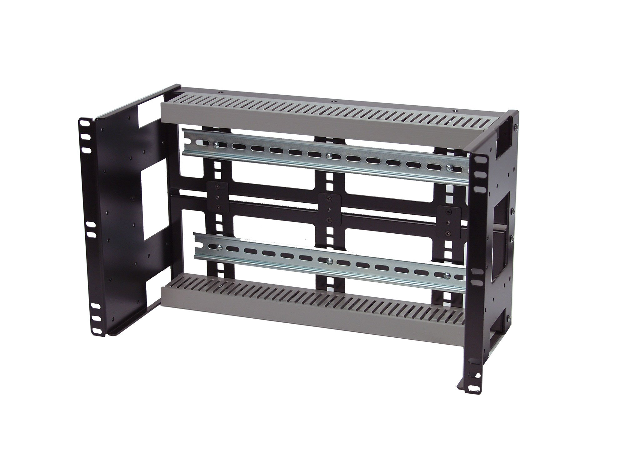 IRP0608D10 Rackmount 6U Compact 8'' Deep Din Rail Panel for 19'' 2-Post or 4-Post Rack