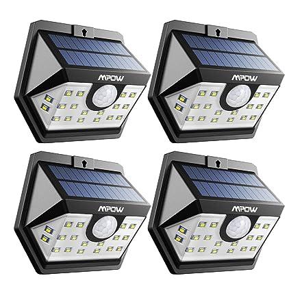 Mpow Solarleuchte Mit Bewegungsmelder Solarlampen Für Außen 20 Led