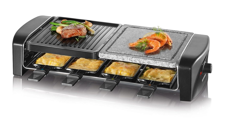 Severin Elektrogrill Ersatzteile : Amazon severin rg raclette grill mit naturgrillstein schwarz