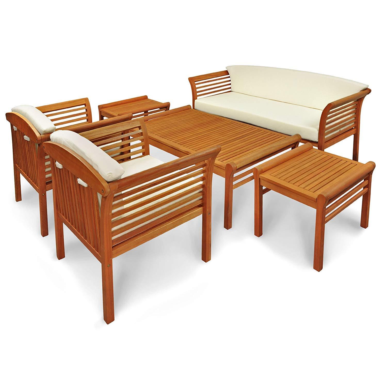 Indoba XL Premium Gartenmöbel Set 6-teilig Gartenset Sitzgruppe Tisch Bank Stühle