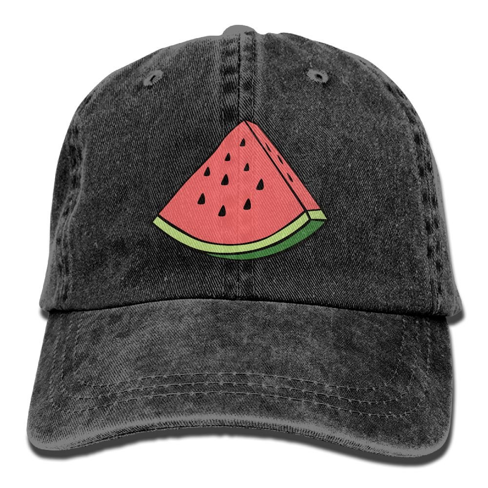 Trableade Fruit Watermelon Pattern Unisex Sport Adjustable Structured Baseball Cowboy Hat