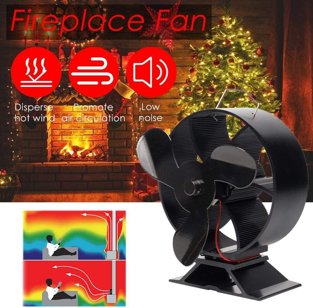 Ventilador de estufa accionado por calor para chimenea, potente ventilador de chimenea de 3 palas para estufa de leña, estufa de leña y chimenea, ecológico y eficiente