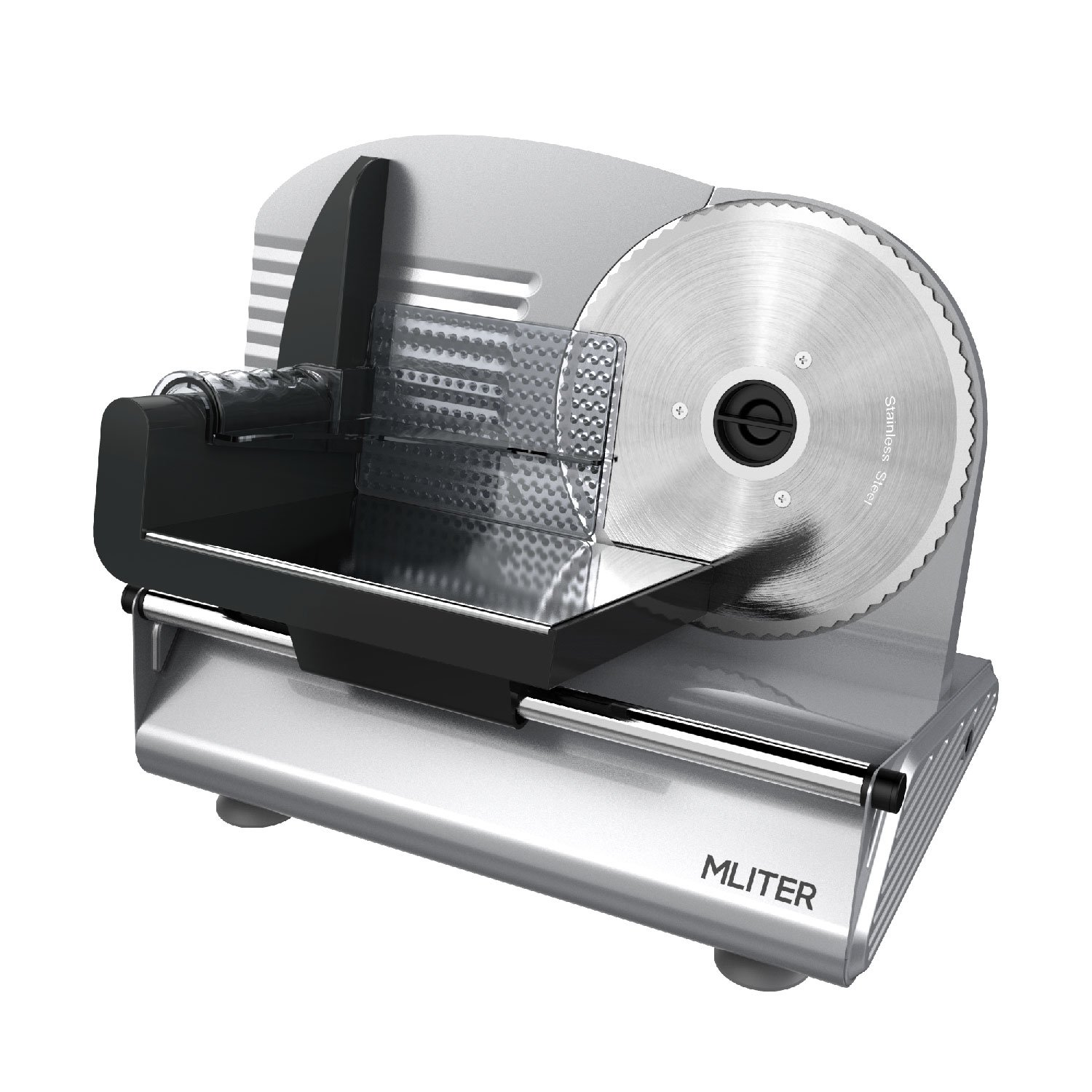 MLITER Electric Food Slicer Precision 19cm Stainless Steel Blade ...
