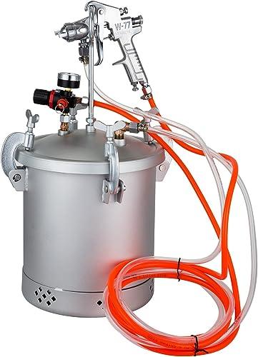 VEVOR Paint Tank 10L Pressure Pot Paint Sprayer 2.5 Gallon Pressure Spray Gun Regulator 10L 1.5mm