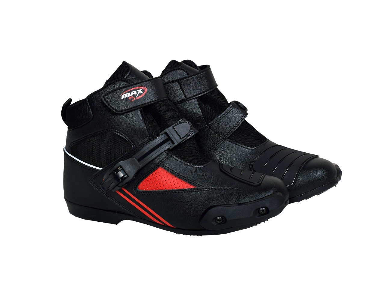 41 EU// 7UK MAXFIVE Motorrad Stiefel Touren Kurz Koppel St/ädtisch Rennen Motorrad Leder Boot Speedo Schuhe Rot