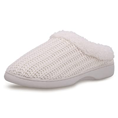 EPGU Women's Winter Memory Foam Slippers Fleece Lined Rubber Soled House Slippers   Slippers