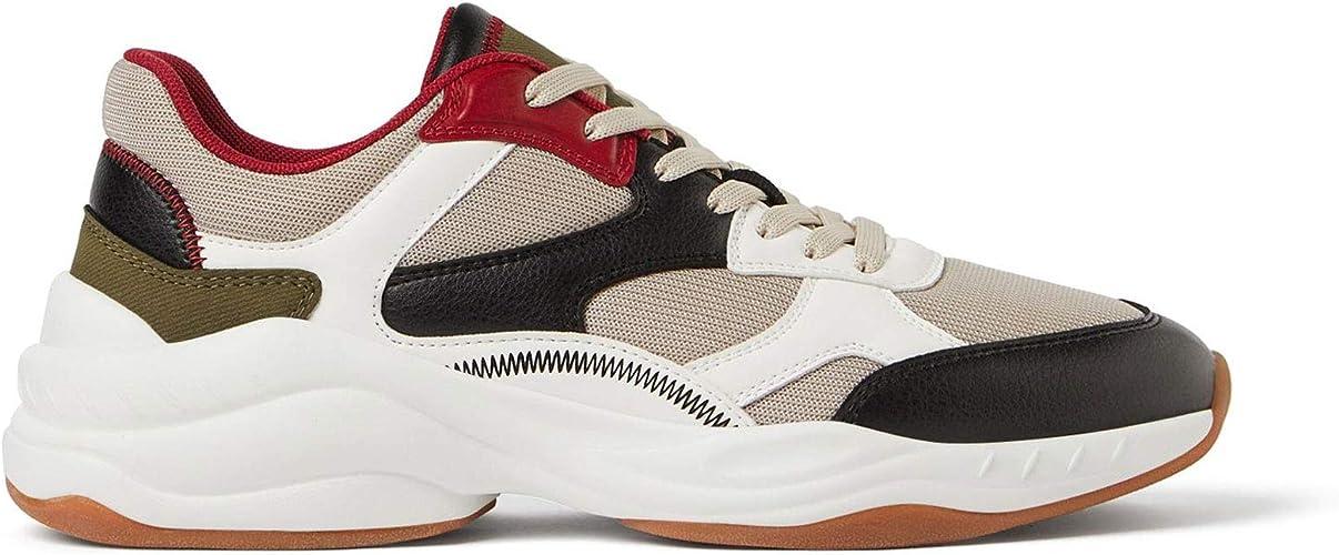 Zara - Zapatillas de sintético para hombre Multicolor multicolor, color Multicolor, talla 43 EU: Amazon.es: Zapatos y complementos