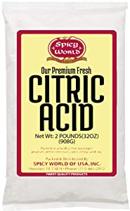 Pure Citric Acid, 2 lb - Food Grade & Non-GMO- Natural Food Preservative, All Purpose Cleaning Agent, Beauty Ingredient- by Spicy World