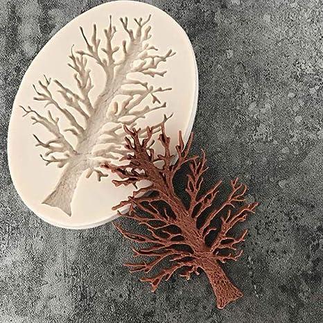 Sencillo Vida Moldes de Silicona para Repostería - Árbol - 3D Molde De Silicona para Magdalenas