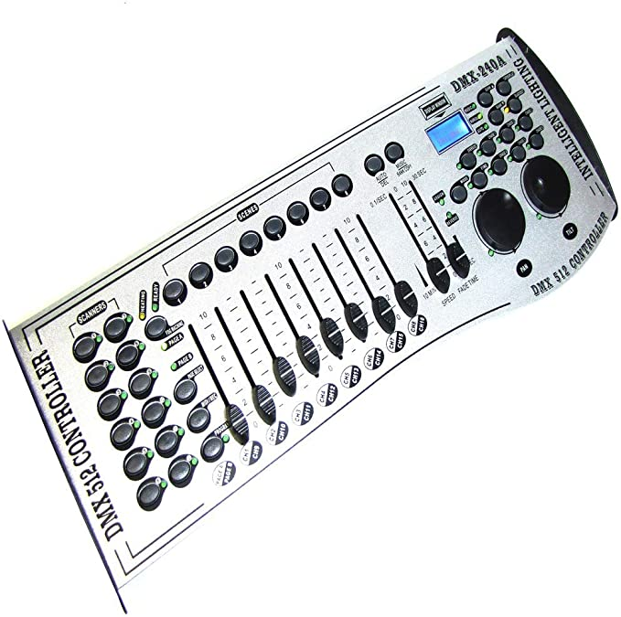 Cablematic - Controlador DMX 512 de 8 deslizadores DMX-240A ...