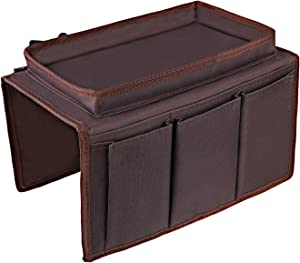 OOTSR Sofa Chair Organizer Holder, Couch TV Remote Storage Organizer with Pockets for Recliner Armchair Snacks Glasses Smartphone Magazines iPad