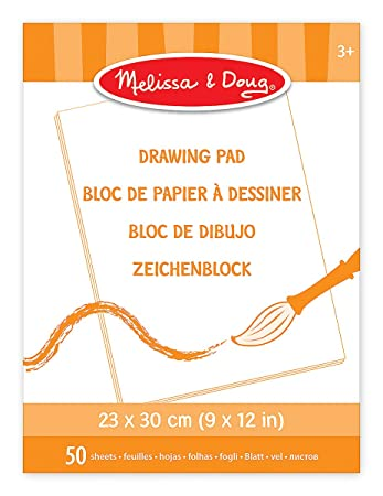 Melissa & Doug Drawing Pad (23 x 30 cm) With 50 Sheets of White Bond ...