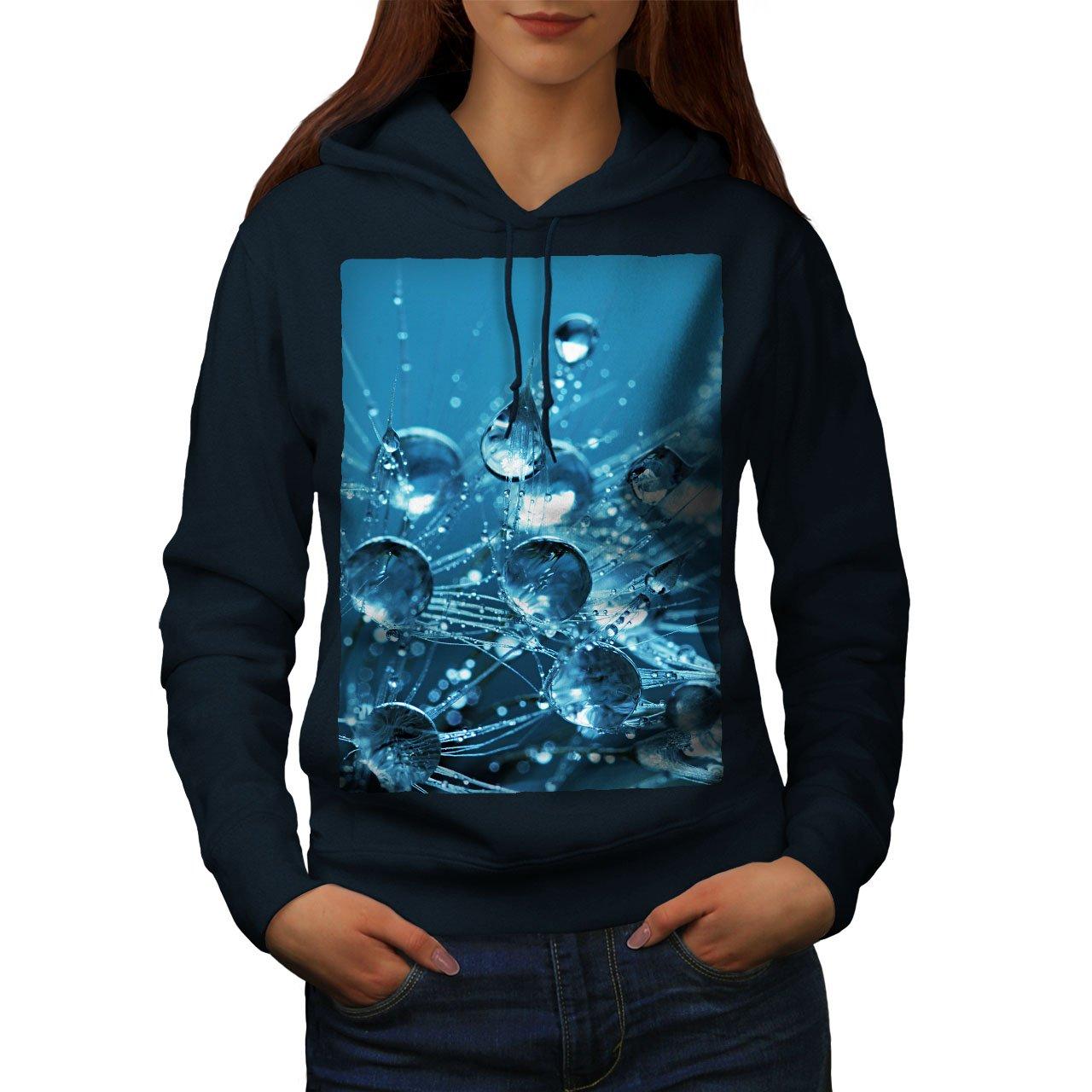 Nature Hooded Sweatshirt wellcoda Drop Splash Photo Womens Hoodie
