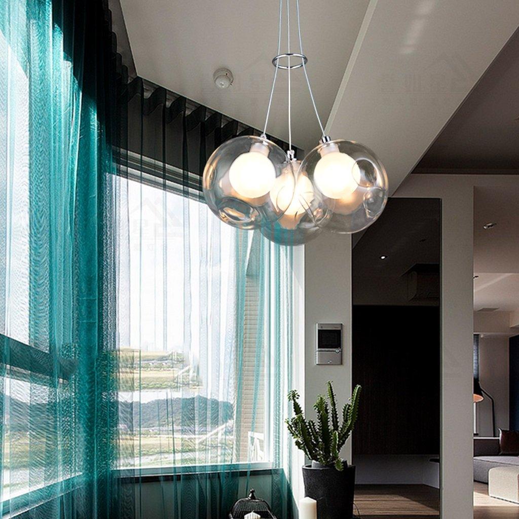 créatif salon balle lustre salle à manger lustre lustre boule bulle de couleur boules de verre boule de verre pour enfants RX-DD