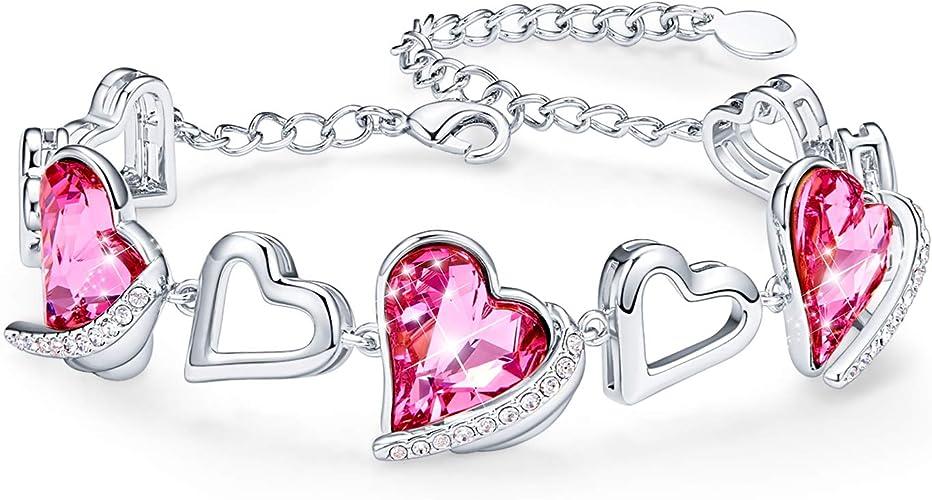 Damen Armband Gold SET Love Herz Schön Geschenk Modeschmuck Kostenloser Versand