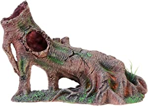 Saim Aquarium Tree Root Decoration Resin Trunk Ornament Safe for Holes Fish Tank Decor for Small Betta Fishes Hide Out Rest Play