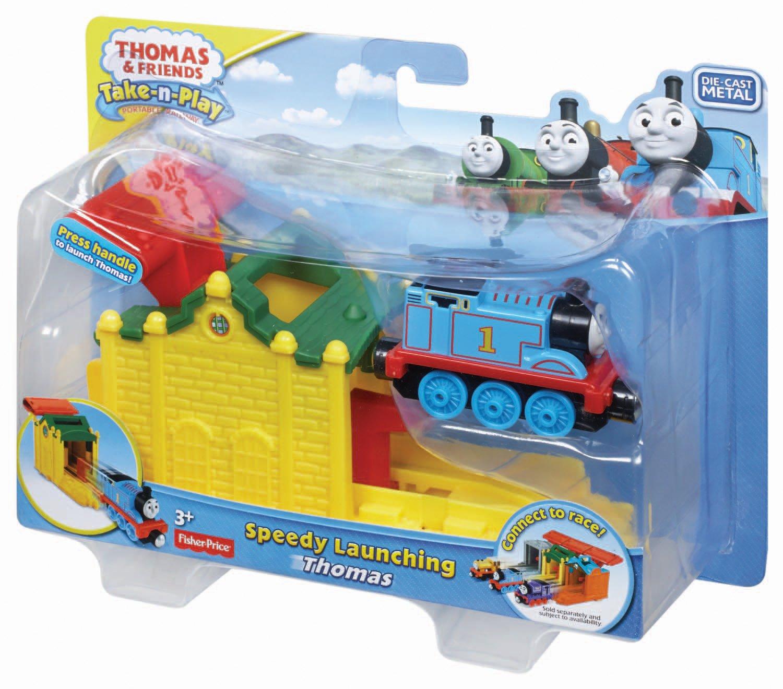 Fisher price Thomas /& Friends take n play Speedy Launching Thomas die cast metal