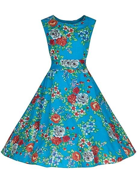 Love Camden - Vestido - Campana - para mujer azul turquesa 36