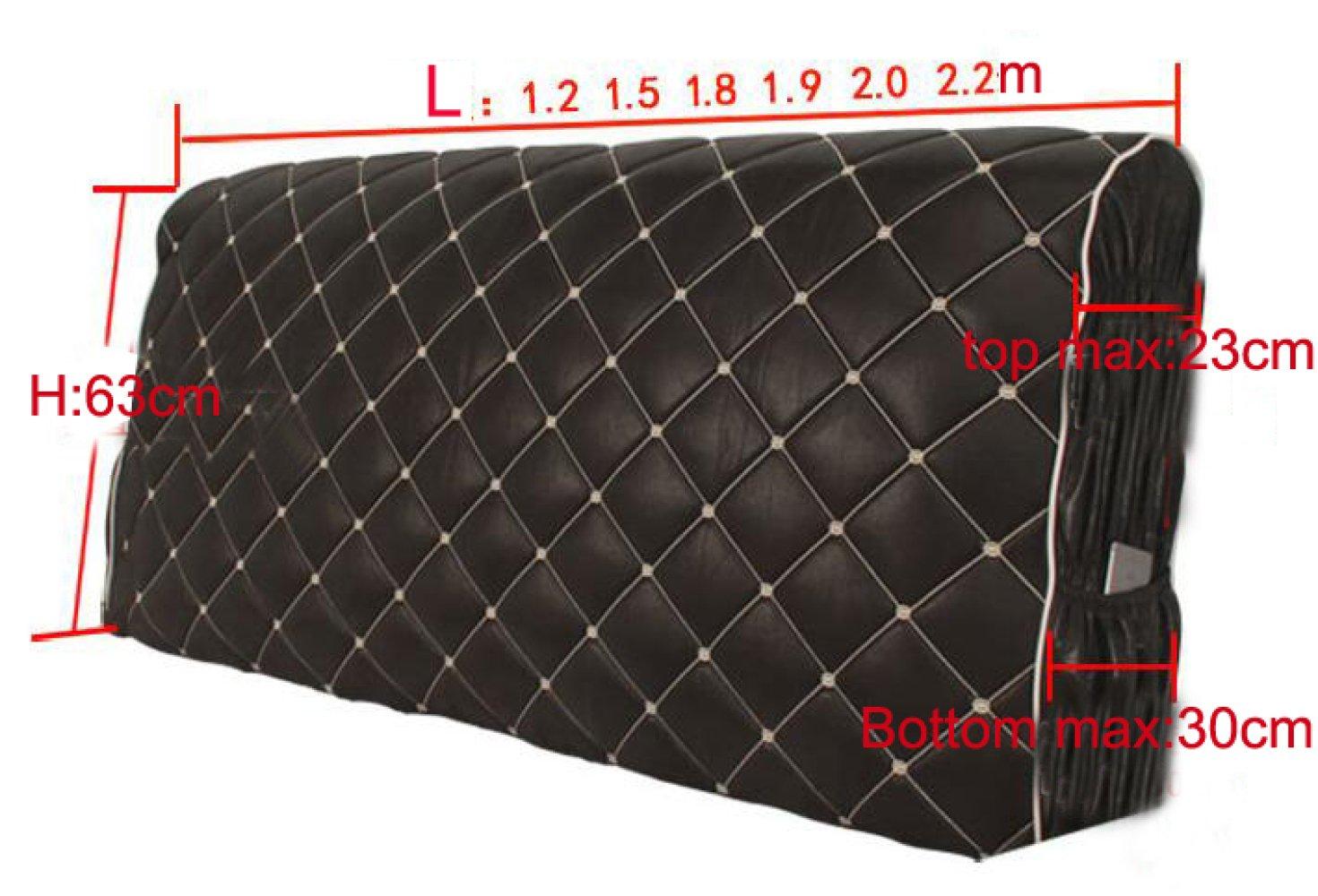 Copri Testiera con Testiera di Riempimento in Spugna Morbida Proteggi Camera da Letto Decor Copri Antipolvere in Tessuto Lucido per Single Double King Testiera Cuscini