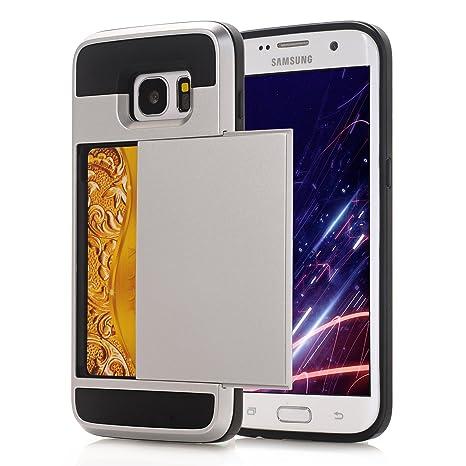 Alfort Funda Samsung S6 Edge Plus, 2 en 1 Carcasa Samsung Galaxy S6 Edge Plus Case PC+ TPU La Cubierta Posterior Puede deslizarse e Insertar la ...