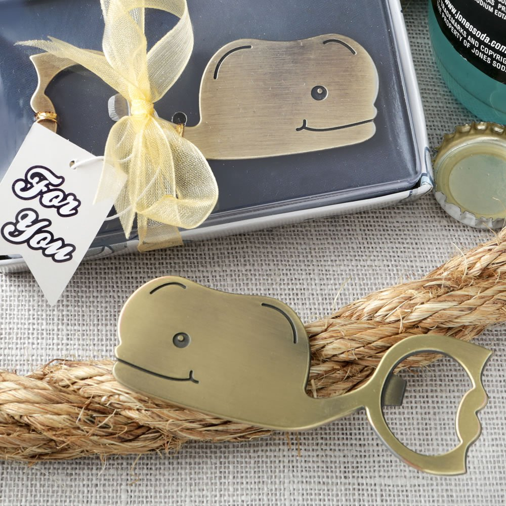 Fun Whale Brass Finished Metal Bottle Openers (96)