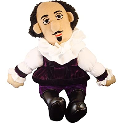"The Unemployed Philosophers Guild William Shakespeare Little Thinker - 11"" Plush Doll for Kids and Adults: Toys & Games"