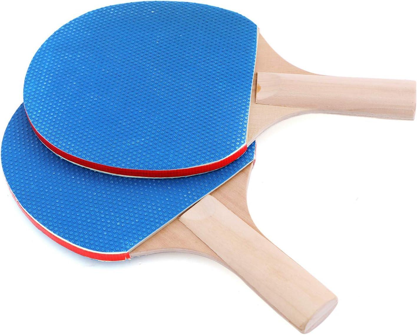 2 Schl/ägern Shujin Tischtennis-Set Familien Tischtennisschl/äger Set mit einziehbares Tischtennis-Netz 3 B/ällen und Tragetasche Kinder Erwachsene im Innen- und Au/ßenbereich f/ür Anf/änger