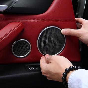 6pcs coche puerta Audio Altavoz Cuerno Anillo embellecedor de decoración adhesivo para X5 F15 – X6