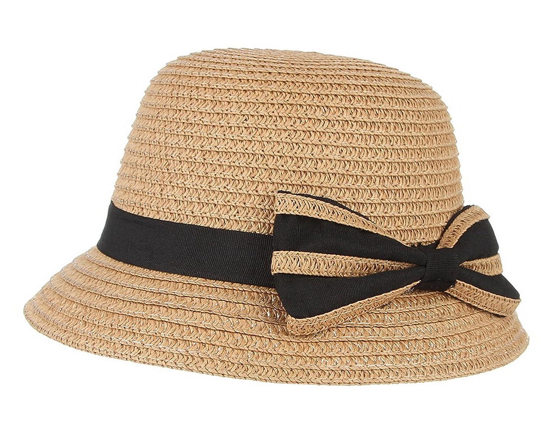 66c7e021052 Gemvie Straw Hat Cute for Baby Girls Sun Hat UPF 50+ Straw Bucket Hat with  Chin Strap