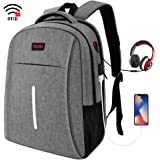 TUQI Travel Laptop Backpack, University Backpack, Waterproof Backpack with USB Charging Port and Headphone Interface…