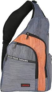Larswon Sling Backpacks, Sling Bag for Laptop, Crossbody Bags Shoulder Bag Blue
