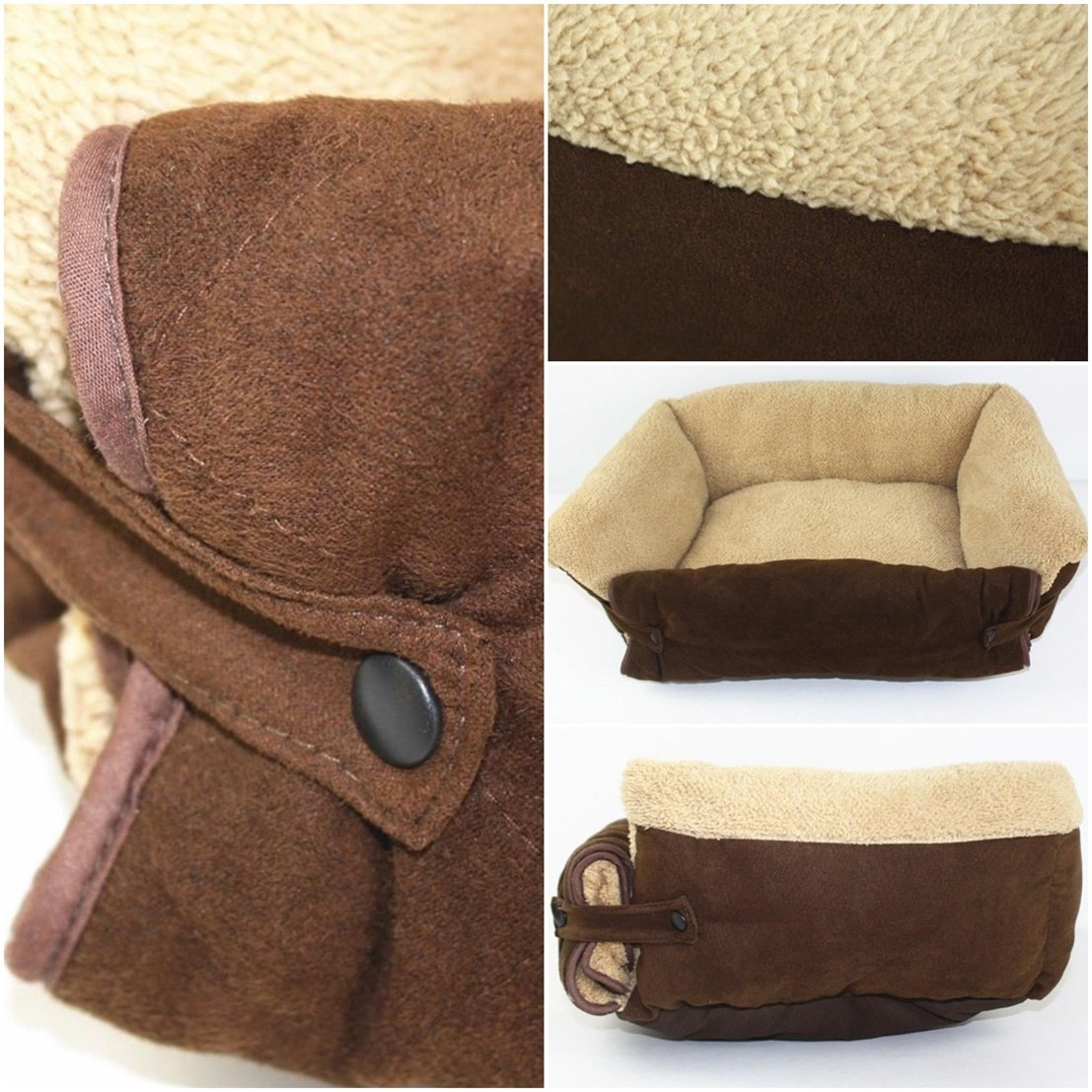 1Pc First-class Popular Pet Sofa Bed Size S Puppy Mat Kennel Pad Cat Plush Color Brown