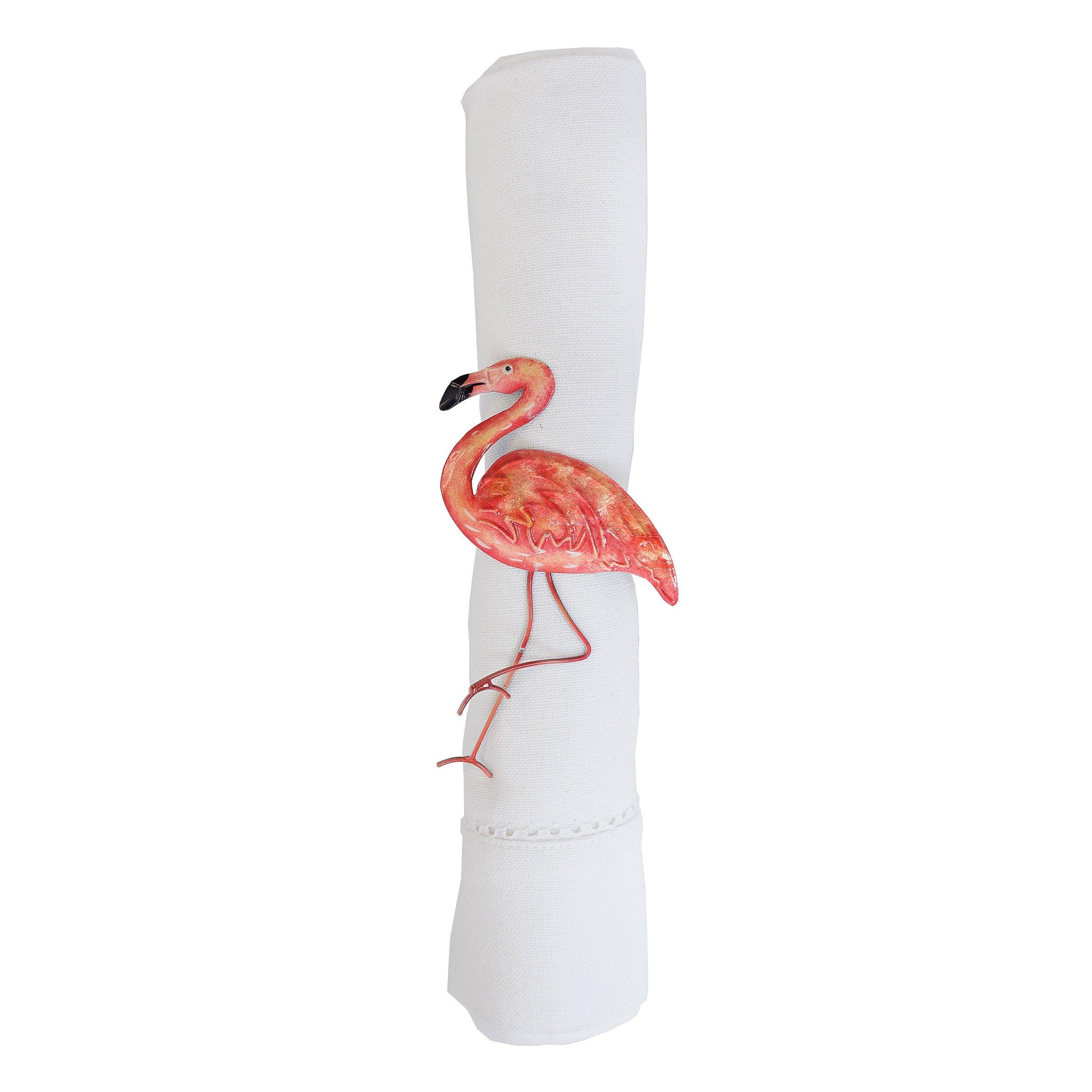 GALLERIE II Flamingo Napkin Ring Set of 6