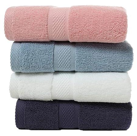 MXH Toallas de algodón Toalla del hogar Toalla de algodón 4 Cargado,Blue: Amazon.es: Hogar