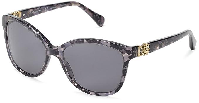b7a7563345 Amazon.com  D G Dolce   Gabbana DG4162P 265481 Cat Eye Sunglasses ...