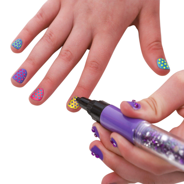 GirlZone Regalos para Niñas -Pintauñas Niñas -Diseña Tus Uñas Set Maquillaje Niña: Decora Tus Uñas. Set Manicura Niñas 6 a 12 años, Manicura Juguete