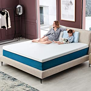 Queen Mattress, Iyee Nature 10 inch Cooling Gel Memory Foam Mattress in a Box, Foam Bed Mattress with CertiPUR-US Certified Medium Firm Foam Mattress for Sleep Supportive & Pressure Relief