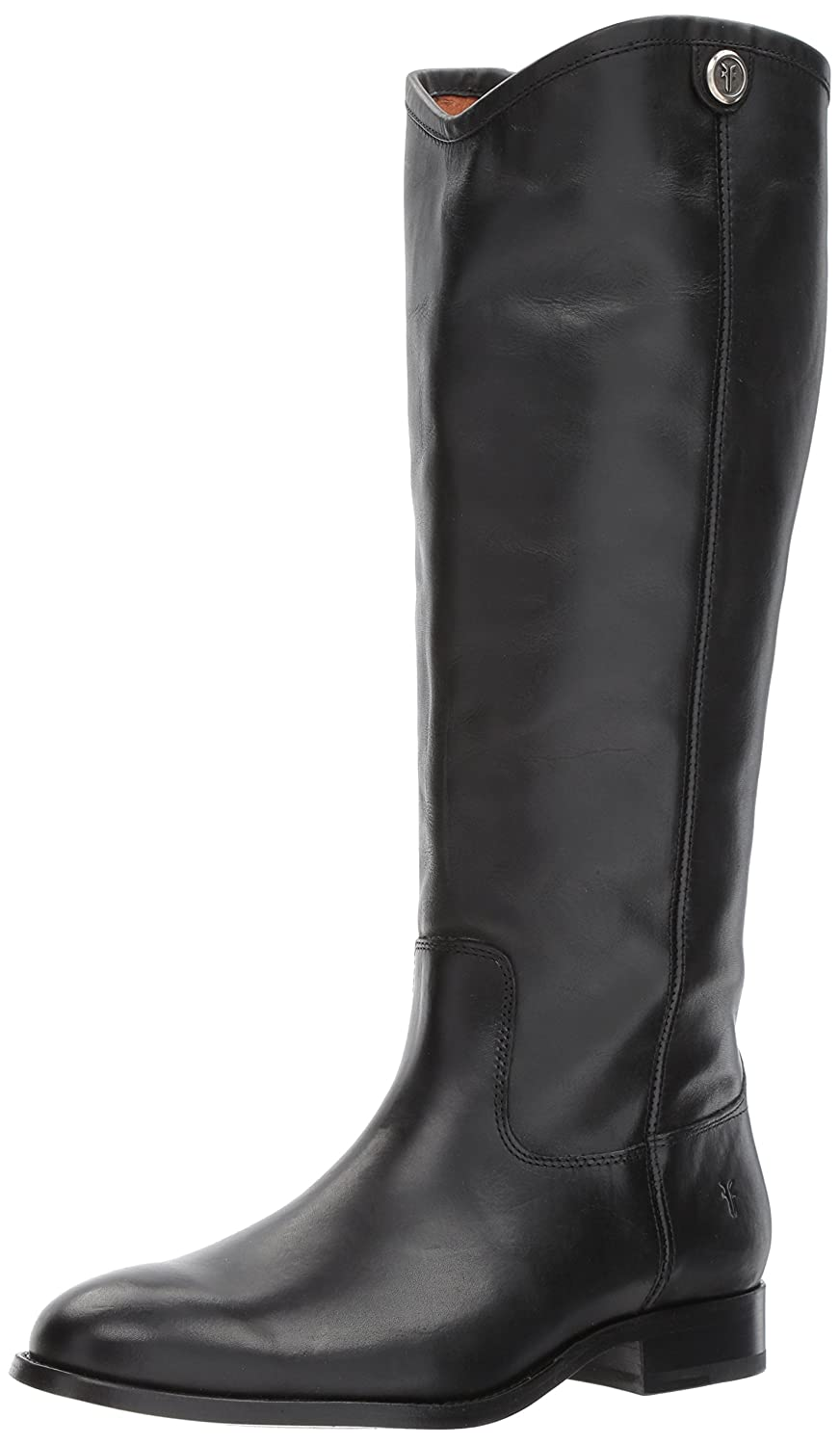FRYE Women's Melissa Button 2 Extended Calf Riding Boot B06VSJVWYN 7 B(M) US|Black Extended Calf