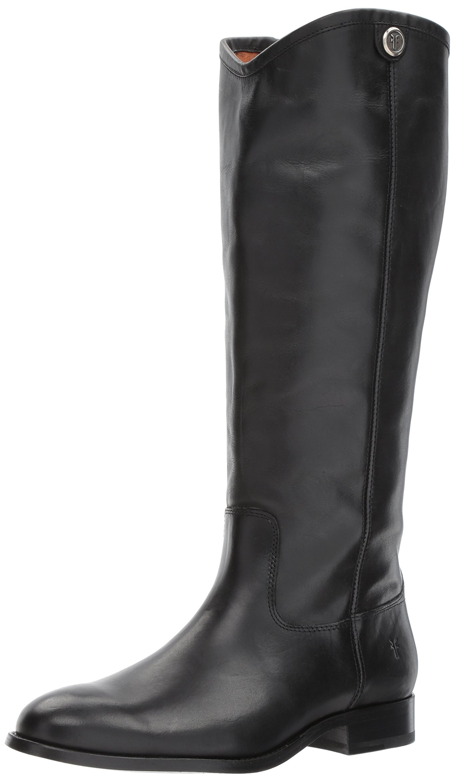 FRYE Women's Melissa Button 2 Extended Calf Riding Boot, Black Extended Calf, 8 M US