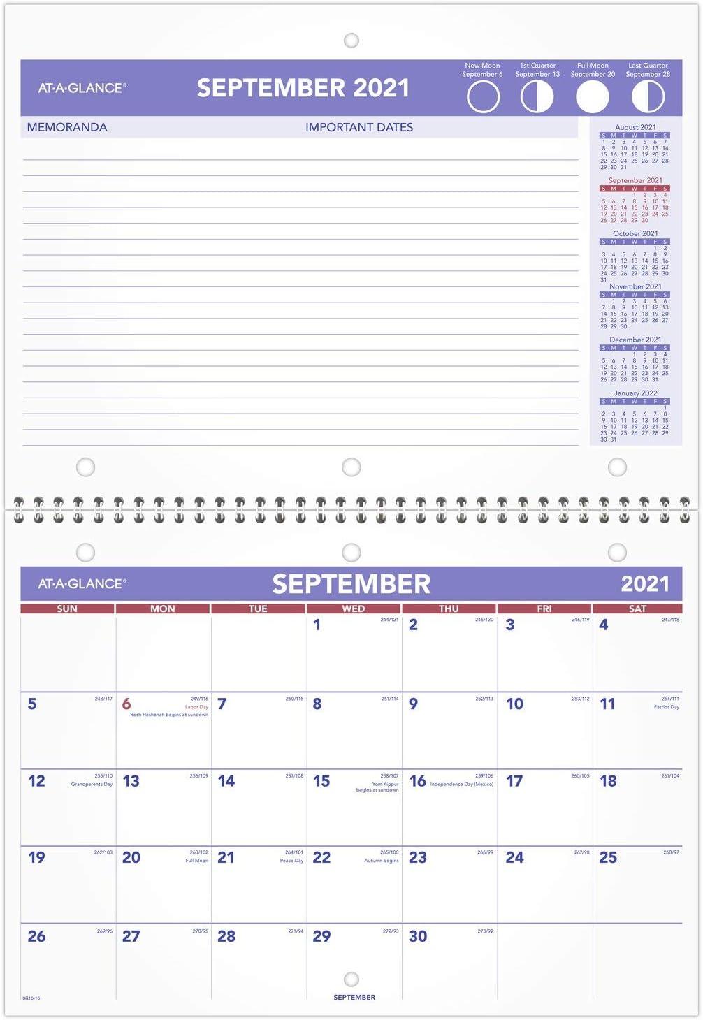 At A Glance Wall Calendar 2022.Amazon Com Academic Wall Desk Calendar 2021 2022 At A Glance Monthly 11 X 8 Small For School Teacher Student Sk1616 Office Products