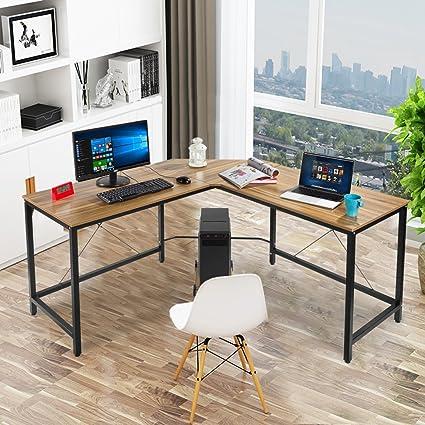 Sturdy Office Desk Intended Onxo Big Promo Modern Lshape Corner Office Desk Computer Workstation Laptop Table Sturdy Amazoncom