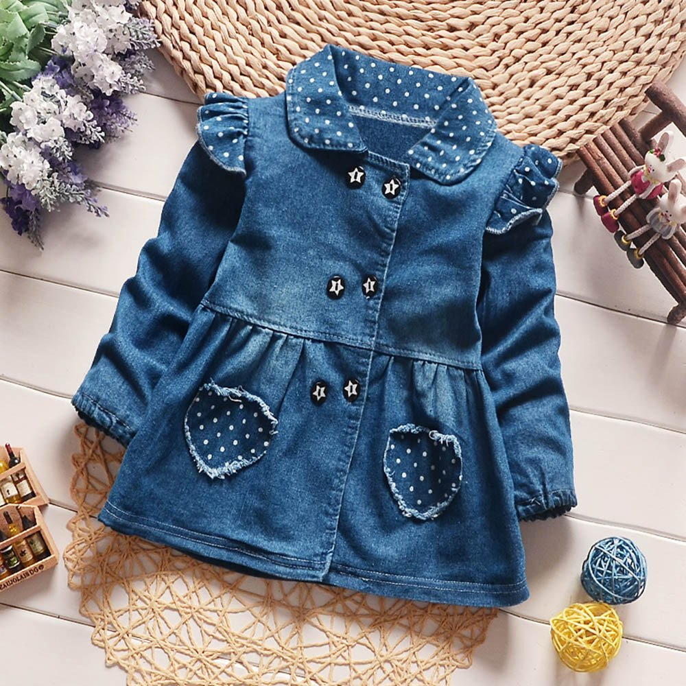 WOCACHI Toddler Baby Girls Dresses Toddler Baby Girls Floral Print Bowknot Short Sleeve Princess Denim Dress Outfit