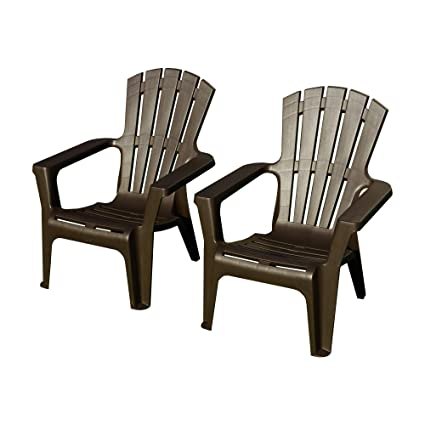 Plastic outdoor chair set