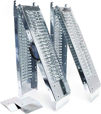 2x Auffahrrampe Klappbar Verzinkter Stahl Auffahrschiene Fahrrampe Laderampe 160x22 5cm 400kg Auto